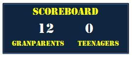 Grandparents Teenagers Scoreboard