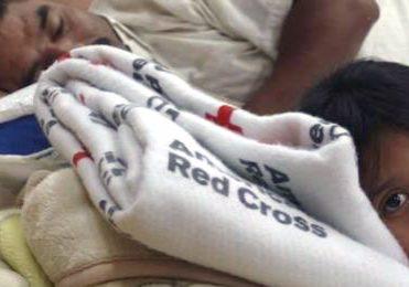 American Red Cross Girl Lying down Photo